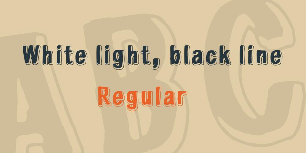 White light, black line